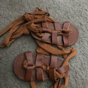 Toddler tie up sandals